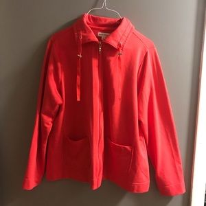 Red studio works zip up jackets size 1X